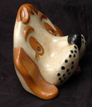 Vintage 1970's  Sleepy Eyed Dog Ceramic Ayner's Eye Glass Holder