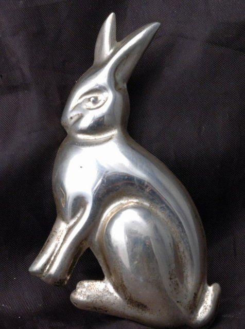 Large Bunny Rabbit Sterling Silver Pin Brooch Pendant , Taxco Mexico  **PRICE REDUCED!**