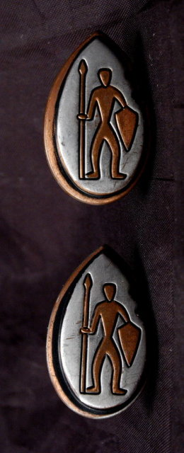 Tribal Warrior Design Mixed Metal Inlaid Cuff Links  Pewter & Copper