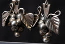 Taxco Mexico Sterling Silver Grape Cluster  Earrings