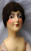 French Boudoir Doll, Composition Head Silk Body