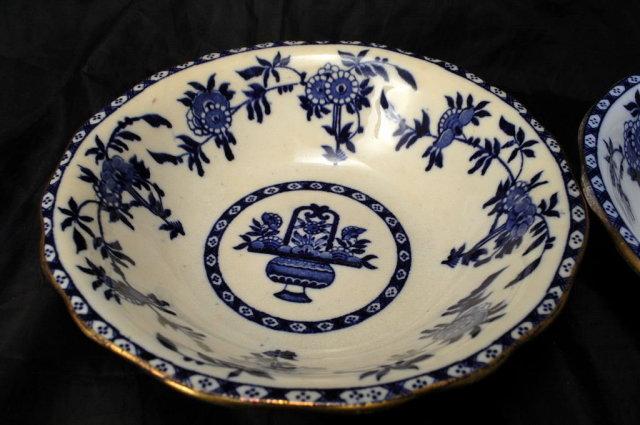 2 Vintage Mintons Delft Porcelain  Mac Dougall Southwick Co.  Soup /Salad Bowls sold at MacDougall Southwick Seattle  **PRICE REDUCED!**