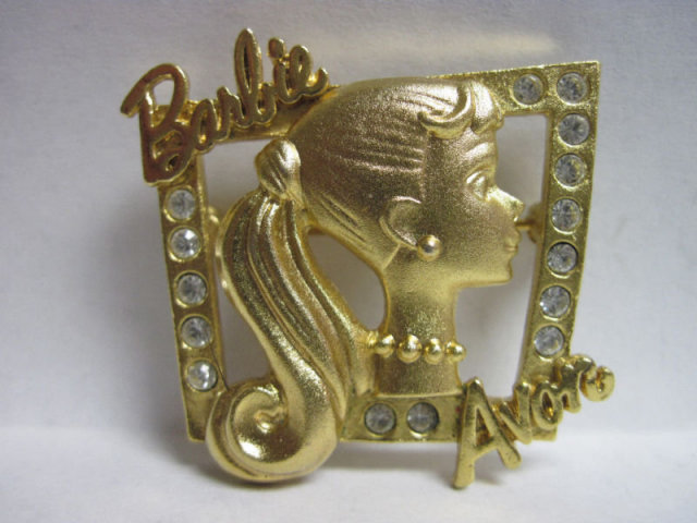 1998 MATTEL BARBIE BROOCH PIN WITH RHINESTONES