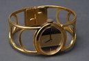 Vintage Gold Bracelet Wrist Watch, Verde' 17 Jewels