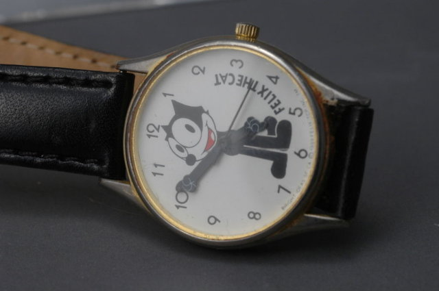 Felix The Cat Wrist Watch by Bright Ideas of SF CA 1889