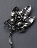 VINTAGE STERLING SILVER AUCELLO FLORAL PIN c. 1920