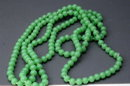 Vintage  Jadeite Glass Beaded Strand Necklace   Endless  58