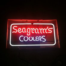 SEAGRAM'S COOLERS NEON SIGN 1998