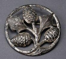 Sterling Silver  Danecraft Pine Cone Brooch Pin