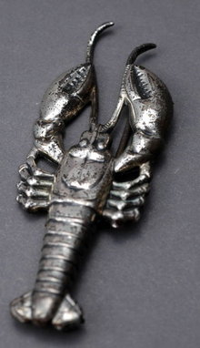 Vintage Sterling Silver Very Detailed Lobster Pin