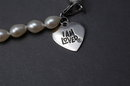 I Am Loved Sterling Charm  Pearl Bracelet