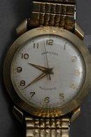 Vintage Hamilton Automatic Wrist Watch , Water Resistant,  Shock Resistant Lifetime Mainspring10k Bezel