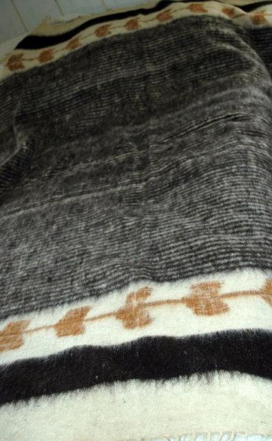 Woven 100% Wool Blanket  Hand Woven Guatemala Mayan  Momostenango