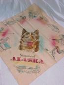Alaska Husky Souvenir Scarf Vintage *Tinted*