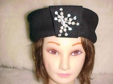 Importina Pill Box Hat with Jewel
