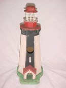 Lighthouse  Bird House, hand made painted wood primitive
