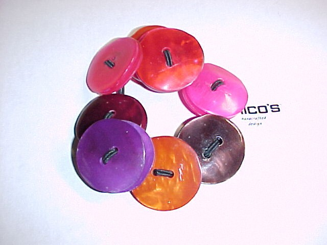 Genuine Shell Button Bracelet by Chico's  Hand carved dyed shell  *PRICE REDUCTION*