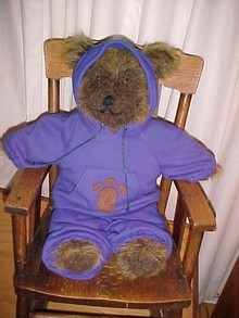 Big Teddy Bear in Jogging Suit  Adorable  * PRICE REDUCED !**