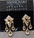 CRYSTAL DANGLE DROP FLEUR DE LIS AUTHENTIC SWAROVSKI JEWELLER'S COLLECTION