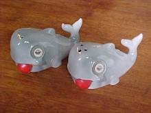 Winky Eye Whales Salt & Pepper Shakers