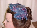 Velvet Flower & Feather Half Hat *PRICE REDUCTION!*