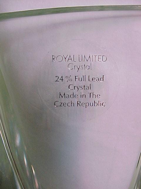 Czechoslovakian Royal Limited Crystal Vase