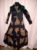 Large Leopards on Black Print Vintage Dress