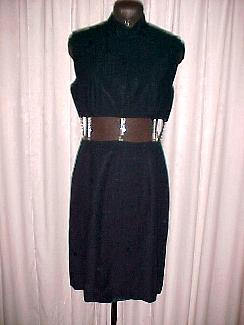 Revealing Midriff Dress with Rhinestone Straps little black party dress  *PRICE REDUCTION*