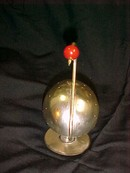 Napier Hors d'oeuvre PICK HOLDER Silver Swan &  Red BAKELITE *PRICE REDUCTION!*