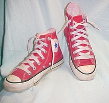 Red Chuck Taylor Hi Top Converse Shoes 5