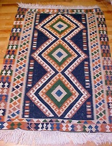 Persian Wool Kilim Carpet Hand Woven Rug