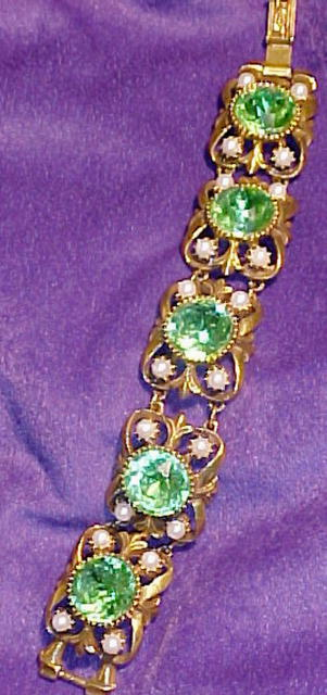 CHUNKY BRACELET Florenza Bracelet  Green   Glass Stones