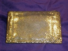 Whiting & Davis Co. Gold Metal Mesh Bag, Purse,