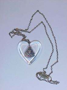 WWI Sweet Heart Necklace Royal Canadian Corps