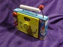 Vintage Fisher Price T-V Radio Wood with Paper Litho Plays Farmer in the Dell