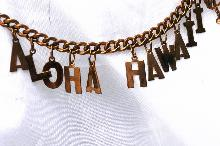 Vintage Hawaii Souvenir Letter Bracelet  -Aloha Hawaii