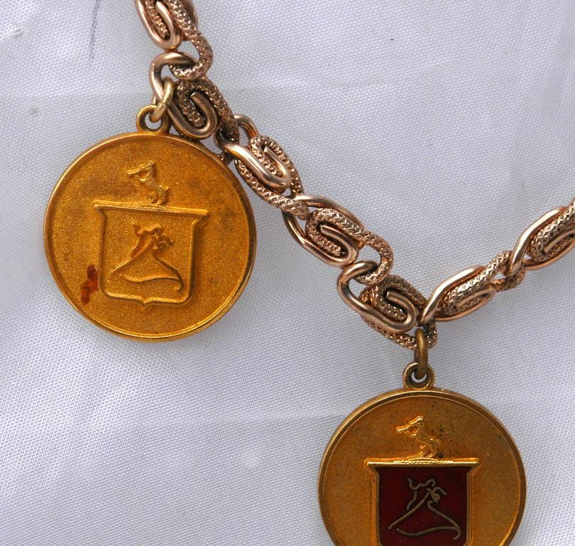 Arthur Murray Ball Room Dance Awards Charm Bracelet , Sterling, Copper and Gold