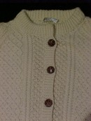 Irish Fisherman Cardigan Sweater from Cork Ireland