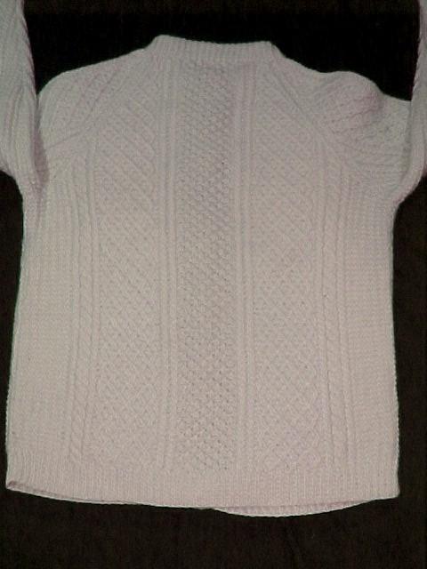 Irish Fisherman Cardigan Sweater from Cork Ireland