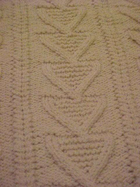 Irish Fisherman Clan HandKnit Sweater  Fancy Chevrons