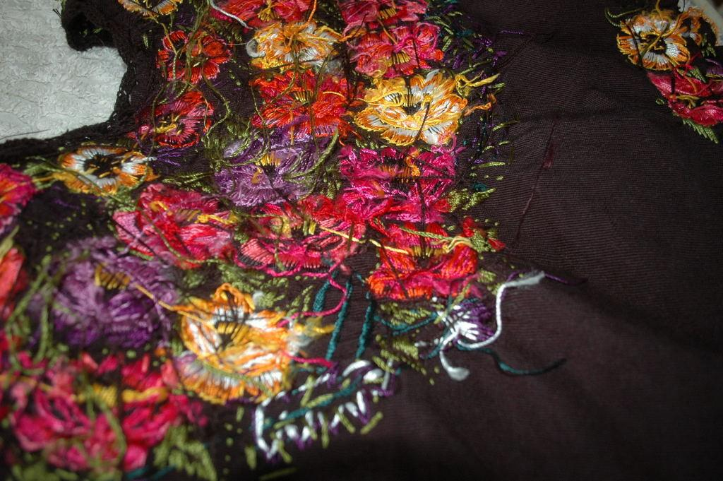 Huipil from Quetzaltenango Region of Guatemala Hand Woven and Embroidered
