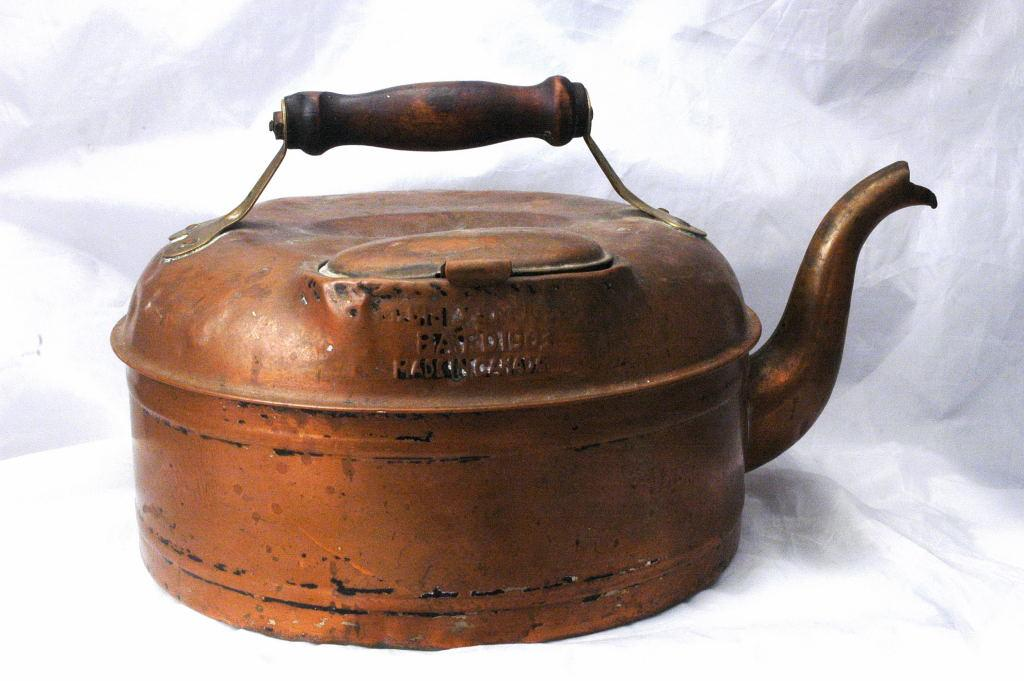 Large  19th C. Canadian Copper Tea Kettle