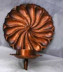 Gregorian Hand Hammered Copper Wall Sconce Candle Holder