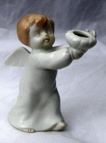 1981 FF FITZ AND FLOYD ANGEL CANDLE HOLDER , MATTE FINISH