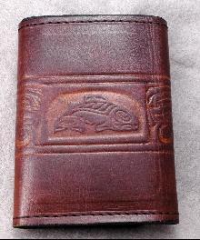 N.W.  Native American  Leather  Tri Fold Wallet