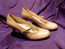 Fornarina Beige Mary Jane Spectator Pumps Shoes