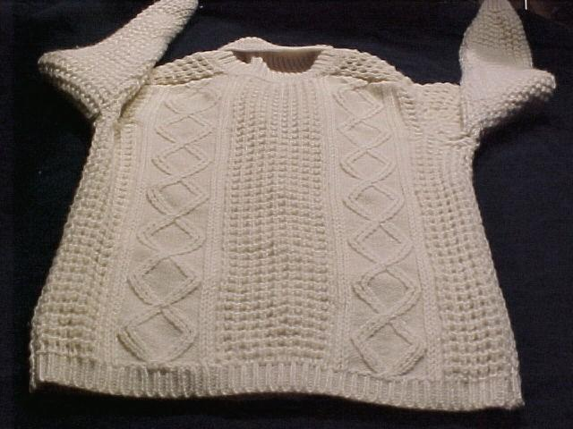 Authentic Wool Irish Fisherman's Knit Cardigan Sweater