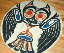 North West Native American Design Hand Hooked Wool Rug