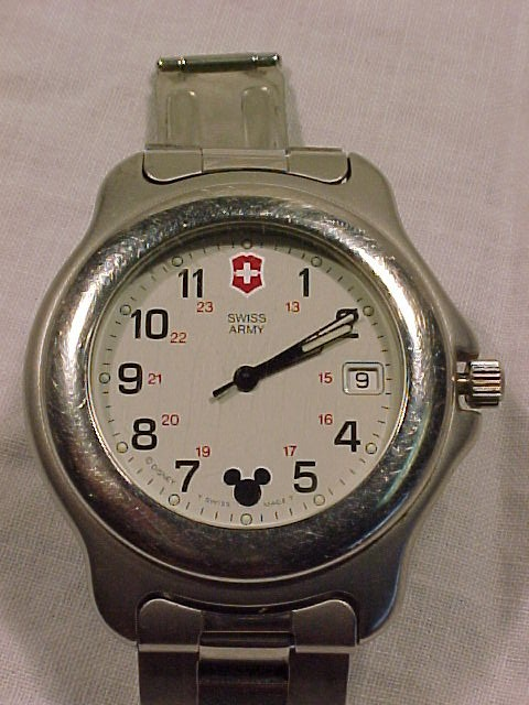 Rare Swiss Army Mickey Mouse Watch WR 330 Ft.
