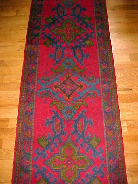 Vintage Oriental Stair Runner Carpet  Wool 15ft